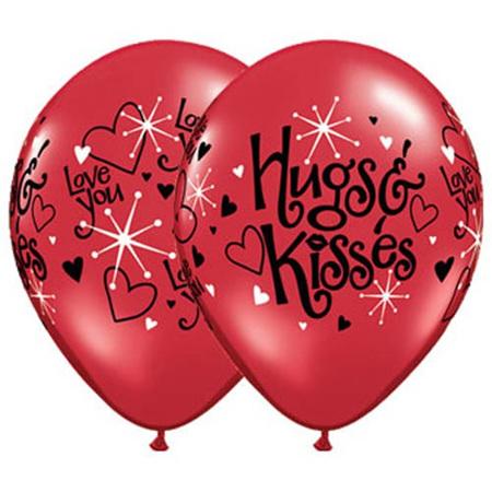Hugs & kisses latex balloon x 1