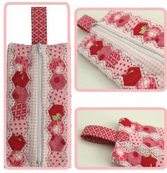 Hugs'n Kisses Hexie Club Zipper Pouch