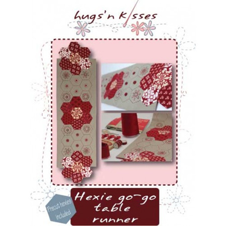 Hugs'n Kisses Hexie Go-Go Table Runner