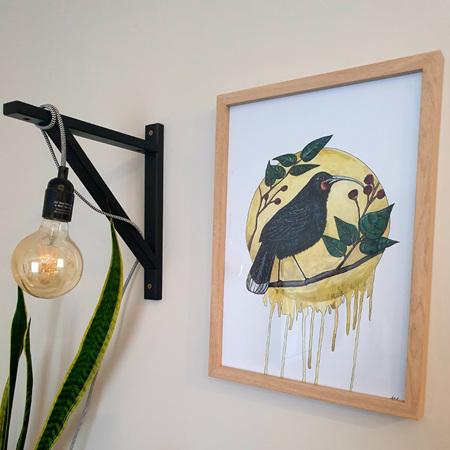 Huia A3 Print Framed