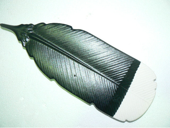 Huia Feather, Wall hanging, platter, NZ collectable ceramics
