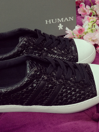 Human Koro Black Woven Sneakers