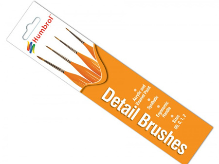 Humbrol Detail Brush Pack - Size 00/0/1/2