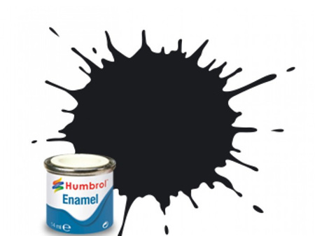 Humbrol Enamel Paint H085 Coal Black Satin