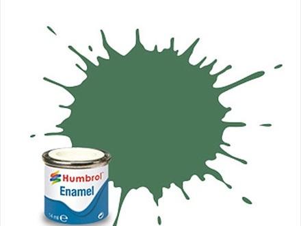 Humbrol Enamel Paint H101 Matt Mid Green