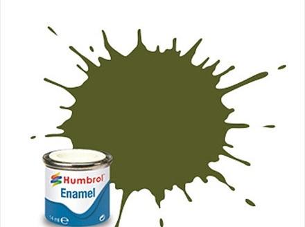 Humbrol Enamel Paint H149 Matt Dark Green
