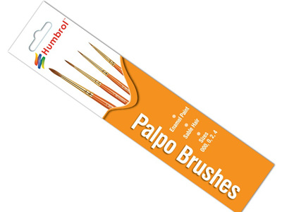 Humbrol Palpo Brush Pack - Size 000/0/2/4