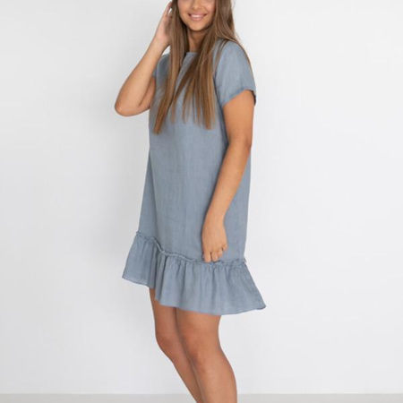 HUMIDITY LILLIE DRESS IN STORM BLUE