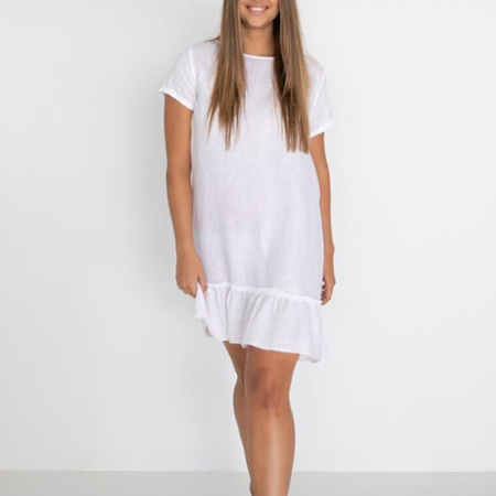 HUMIDITY LILLIE DRESS IN WHITE