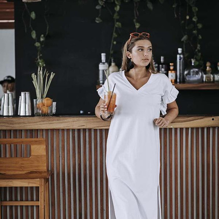 HUMIDITY SANTORINI DRESS IN WHITE