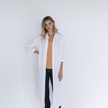 HUMIDITY SHIRT DRESS IN WHITE