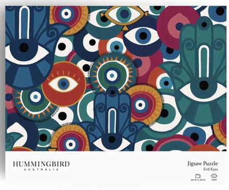 Hummingbird 1000 Piece Jigsaw Puzzle: Evil Eyes