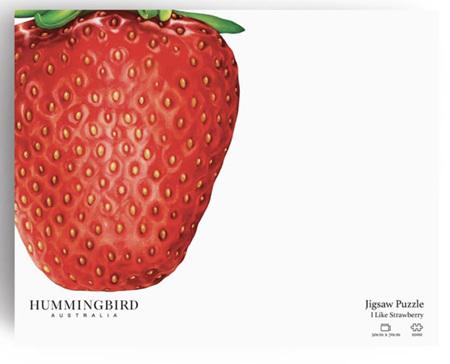 Hummingbird 1000 Piece Jigsaw Puzzle: I Like Strawberry