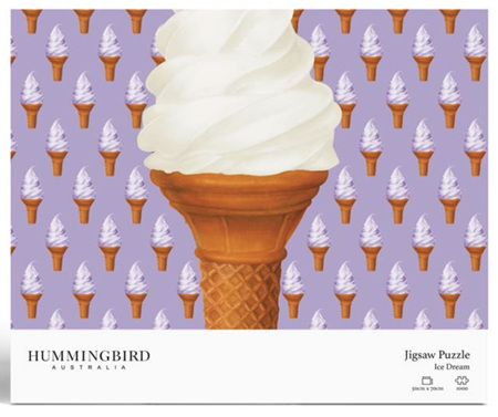 Hummingbird 1000 Piece Jigsaw Puzzle: Ice Cream