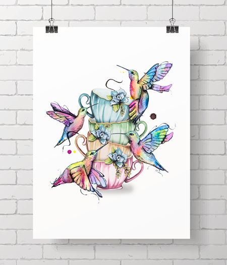hummingbird - tea party