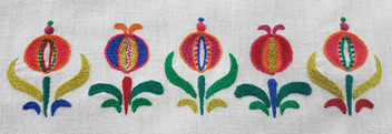 Hungarian Floral Embroidery Kit