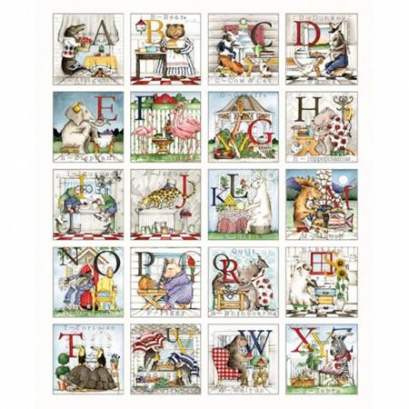 Hungry Animal Alphabet Panel P10180