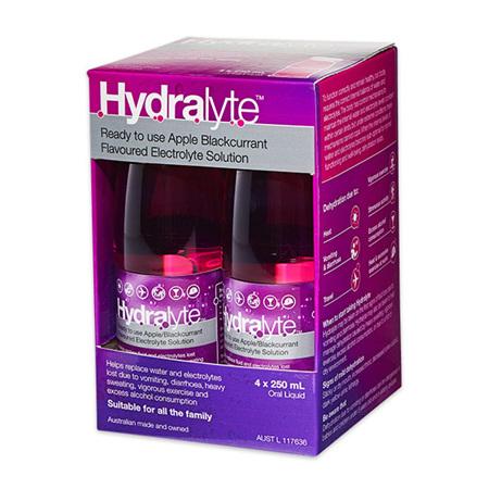HYDRALYTE  APP+B/CUR 4X250ML LQ