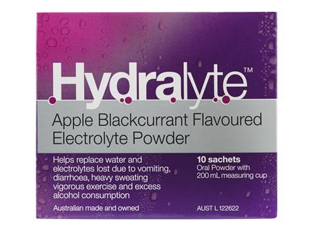 Hydralyte Apple/Blackcurrant 10 Sachets