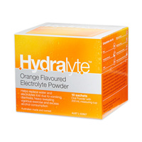 Hydralyte Electrolyte Powder  10 Orange Sachets