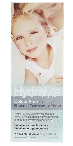 Hydralyte Ice Blocks (Cf) Lemonade 16