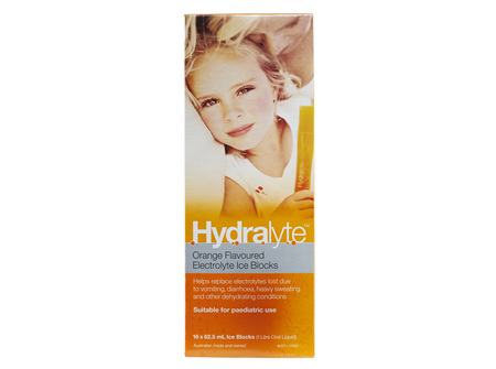Hydralyte Ice Blocks Orange 16