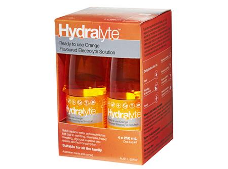 Hydralyte Liq Orange 4 X 250 ml
