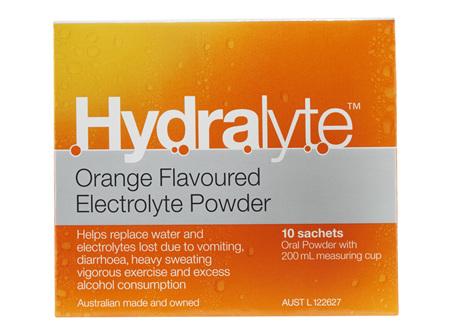 Hydralyte Orange 10 Sachets