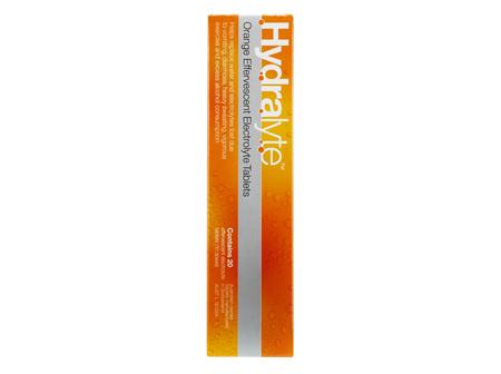 Hydralyte Orange 20 Effervescent Tablets