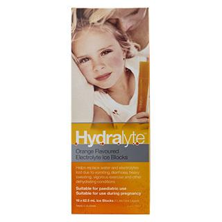 HYDRALYTE ORANGE I/BLOCKS 16