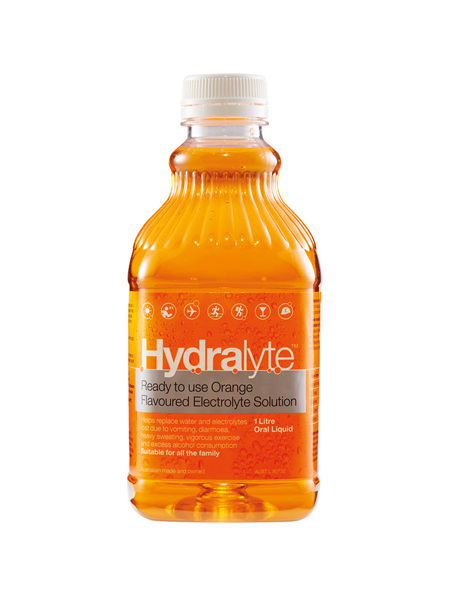 Hydralyte Ready to use  Orange Flavoured Electrolyte Solution 1L