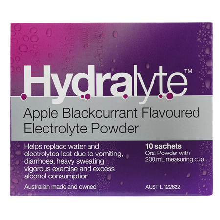 Hydralyte Sachet Apple/Blckcurrant 10