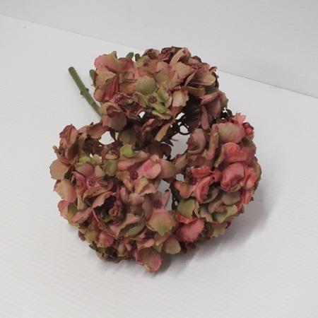 Hydrangea dried look pink 4567