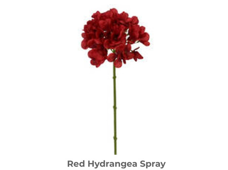 Hydrangea Red Spray 48cm