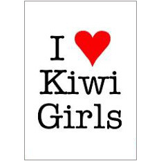 I H Kiwi Girls Fridge Magnet
