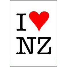 I H New Zealand Fridge Magnet