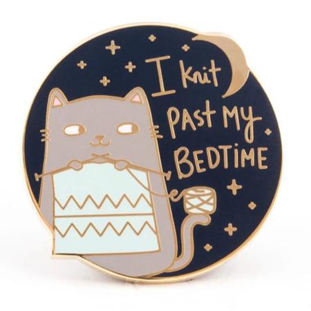 I Knit Past my Bedtime Enamel Pin