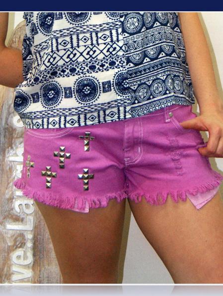 I love Pink Denim Shorts