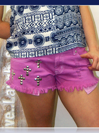 I love Pink Denim Shorts