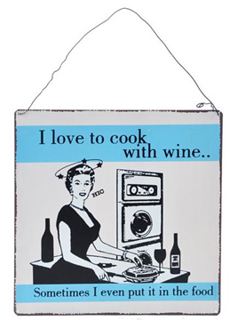 I love to cook with wine......Sometimes I even put it in the food