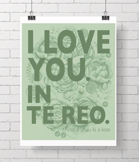 I love you.  In Te Reo.