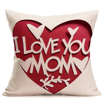 I LOVE YOU MOM CUSHION COVER