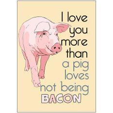 Bacon Pig Fridge Magnet