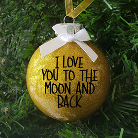 I love You to the Moon & Back  Christmas Ornament