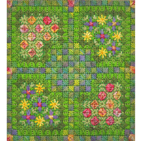 I Never Promised You a Rose Garden Canvas Work Green