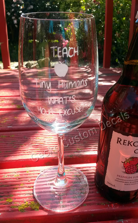 I Teach Tiny Humans - Etched Glass
