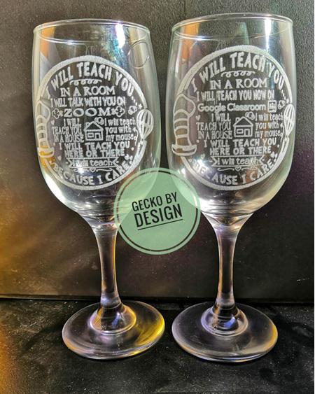 I will teach you because I care glass