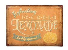 Ice Cold Lemonade - Metal Plaque