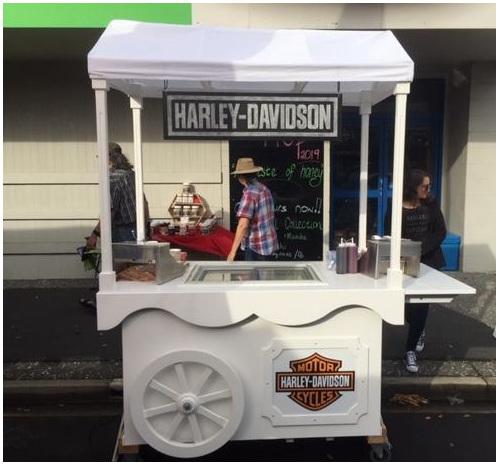ice cream cart, vintage cart, bespoke cart