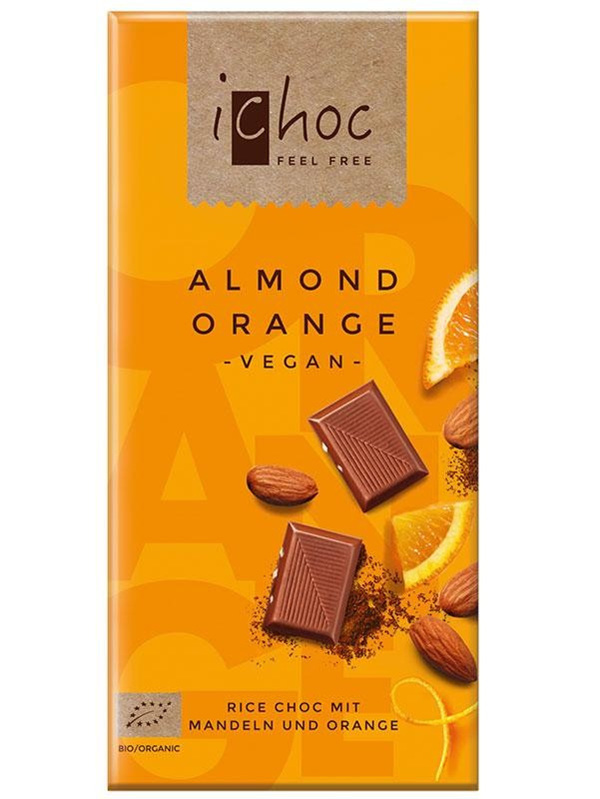 iChoc Almond Orange Chocolate 80g